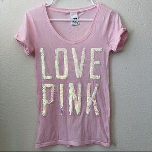 Victoria's Secret Pink Sequin Tee